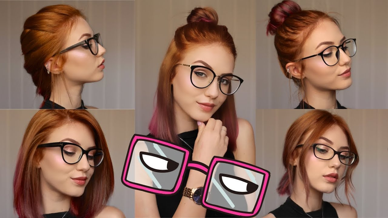 Favorite Medium Haircuts For Glasses Intended For 5 Hairstyles For Different Glasses (View 5 of 20)