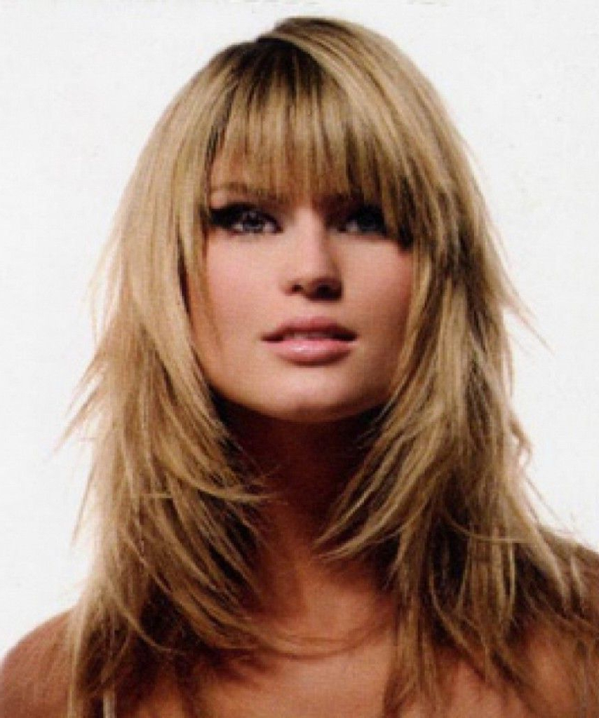 Favorite Medium Haircuts With Bangs And Layers For Round Faces Regarding Best Haircuts For Heavy Women With Fine Hair And Round Face – Google (View 12 of 20)