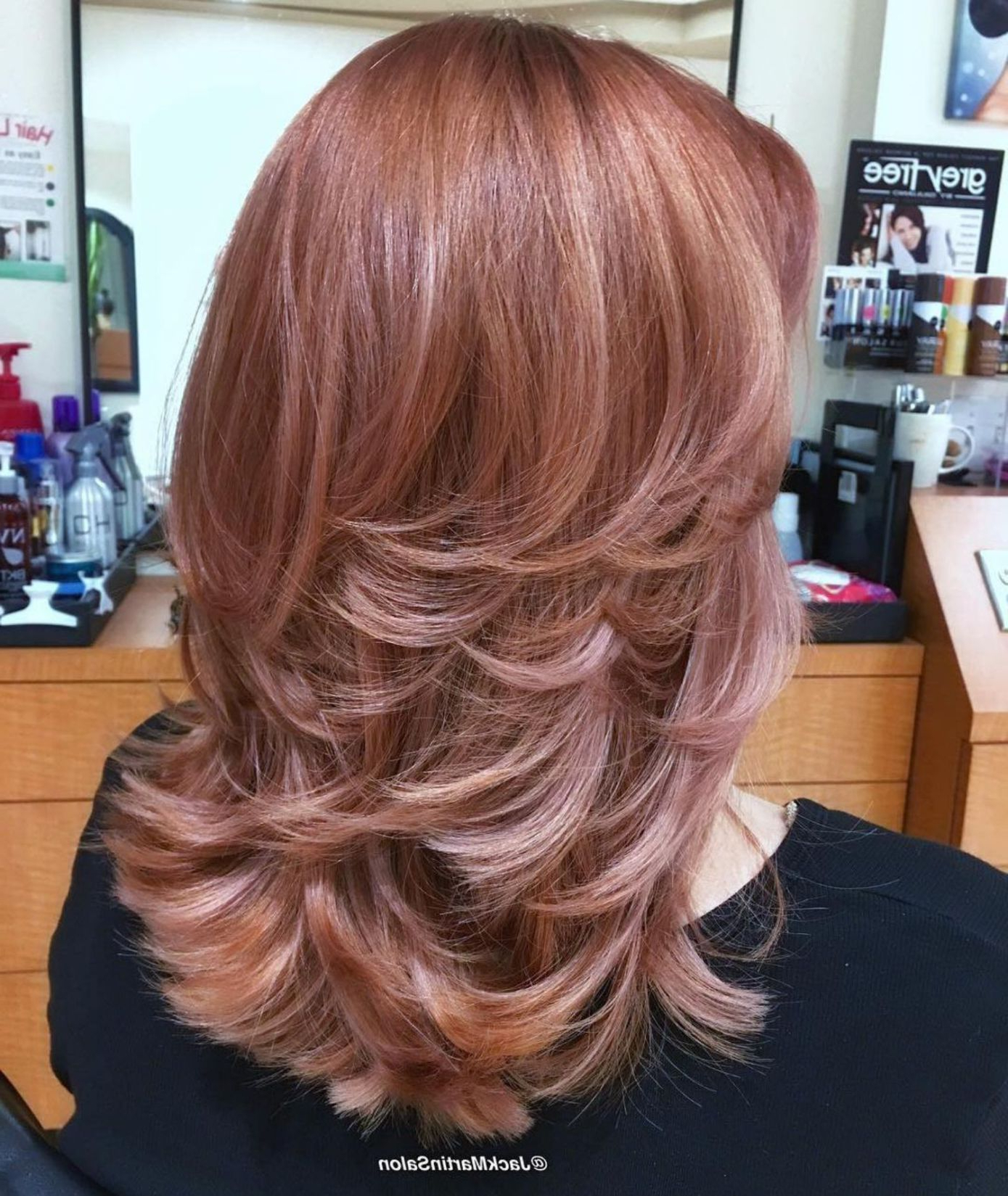 Favorite Medium Haircuts With Fiery Ombre Layers With Regard To 70 Brightest Medium Layered Haircuts To Light You Up (View 7 of 20)