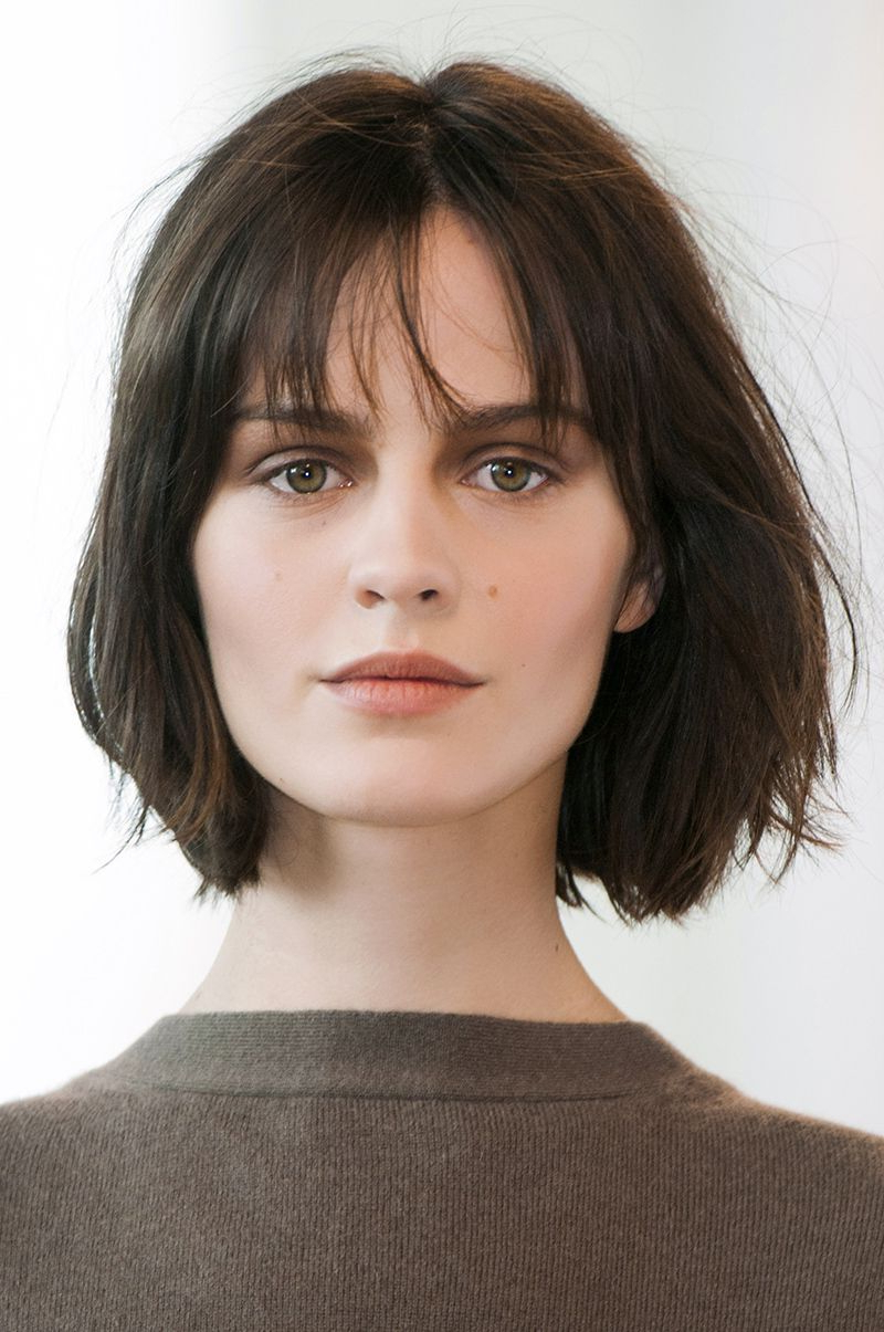 Favorite Medium Haircuts With Wispy Bangs With Regard To 12 Medium Short Hairstyles That Are Low Maintenance, Yet Stylish (View 10 of 20)