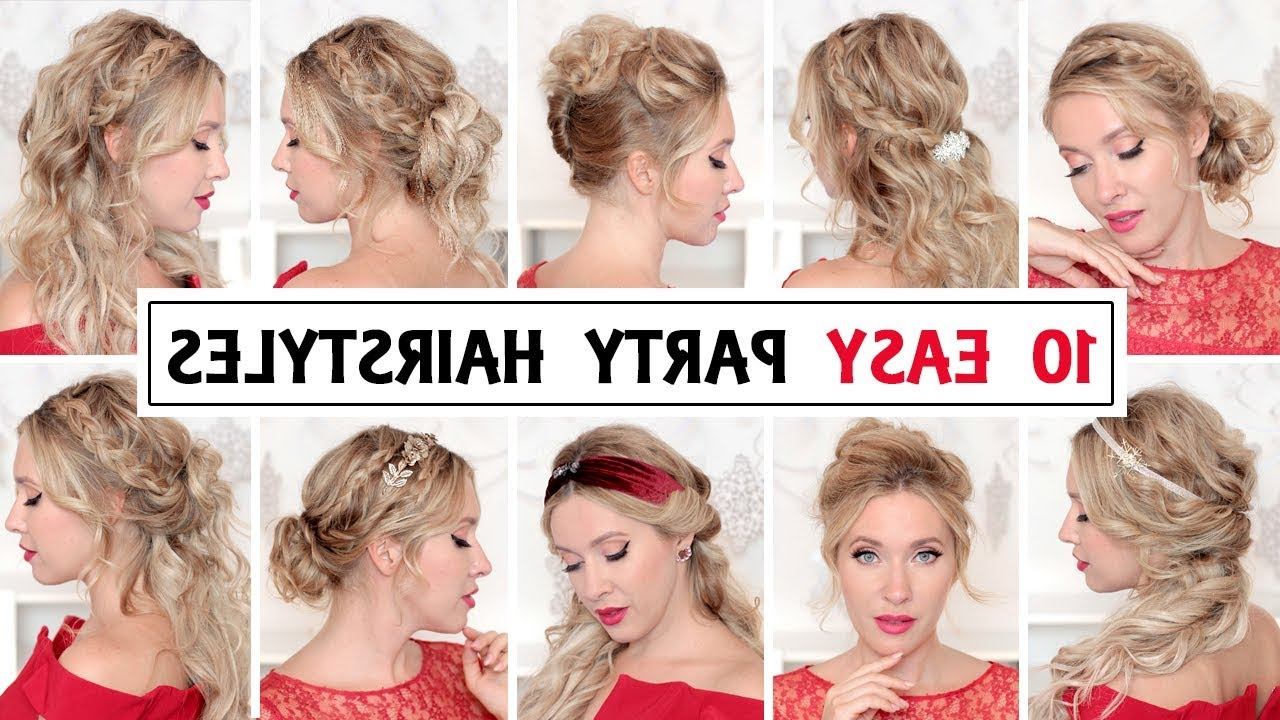 Favorite Medium Hairstyles Formal Occasions Intended For 10 Easy Wedding Party Hairstyles For Short, Medium And Long Hair (View 8 of 20)