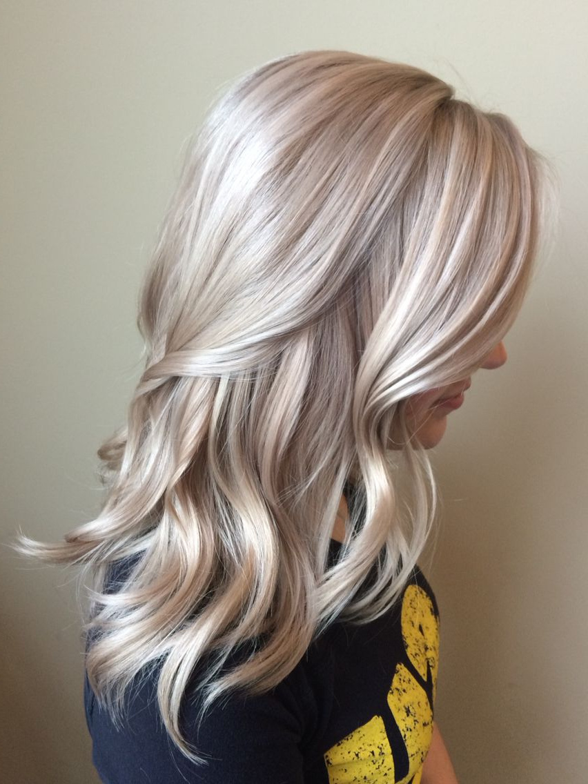Favorite Platinum Blonde Medium Hairstyles Intended For Blonde Hair Platinum Icy Neutral Medium Length Hairstyle Hair Color (Gallery 9 of 20)