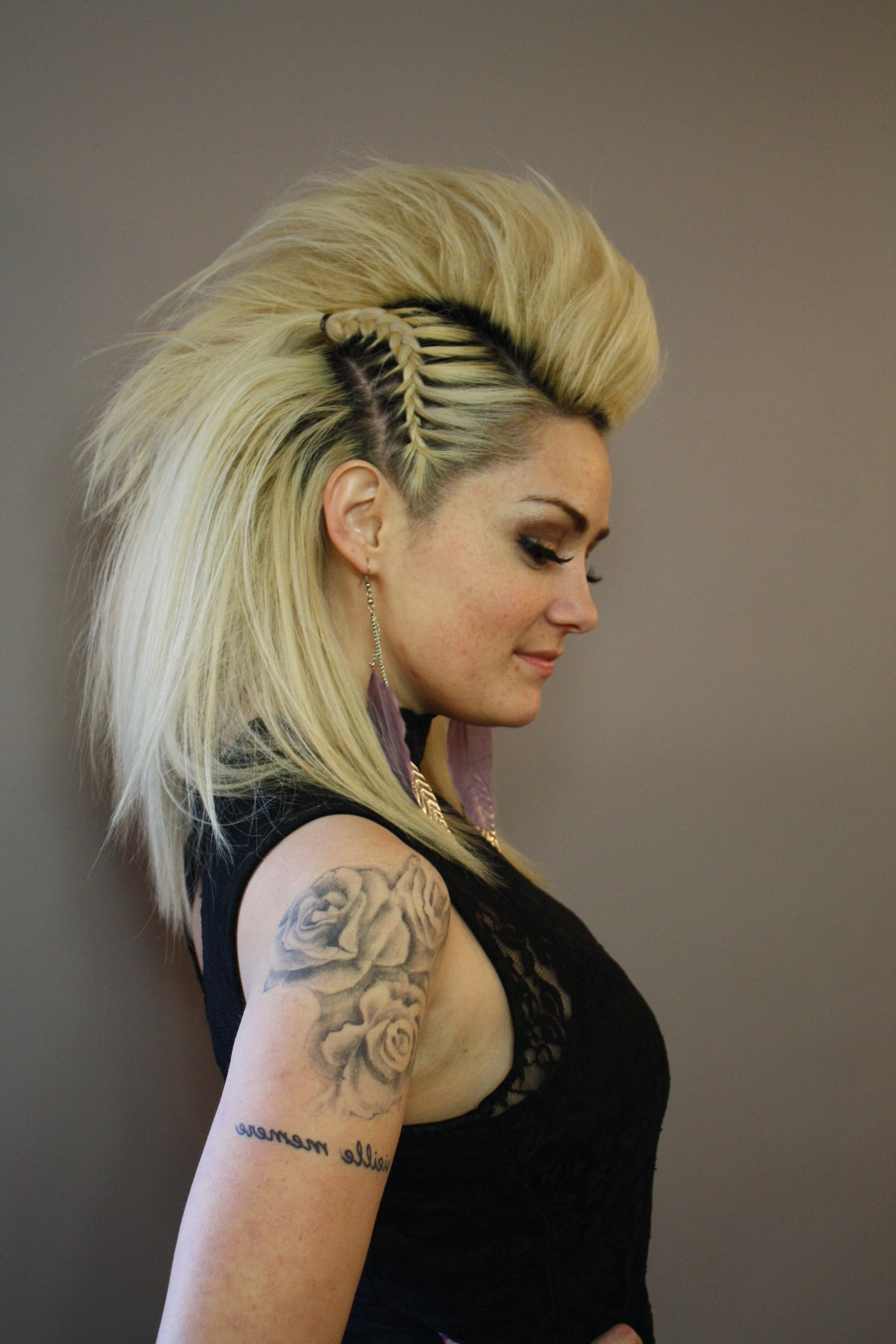 Favorite Punk Rock Princess Faux Hawk Hairstyles Within 20 Newest Faux Hawks For Girls And Women In (View 5 of 20)