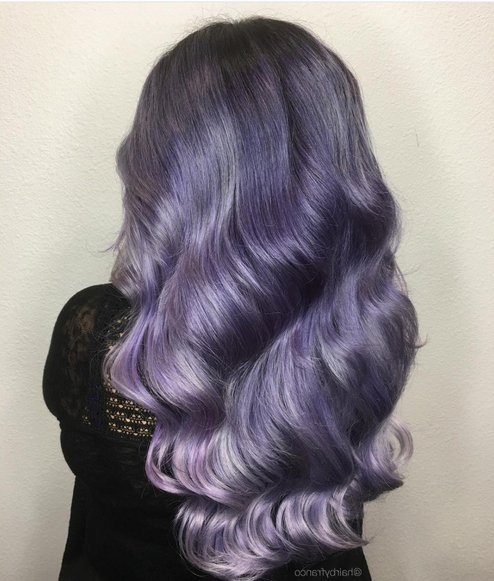 Favorite Purple And Black Medium Hairstyles Inside 23 Of The Most Stunning Purple Hair Color Ideas (View 12 of 20)