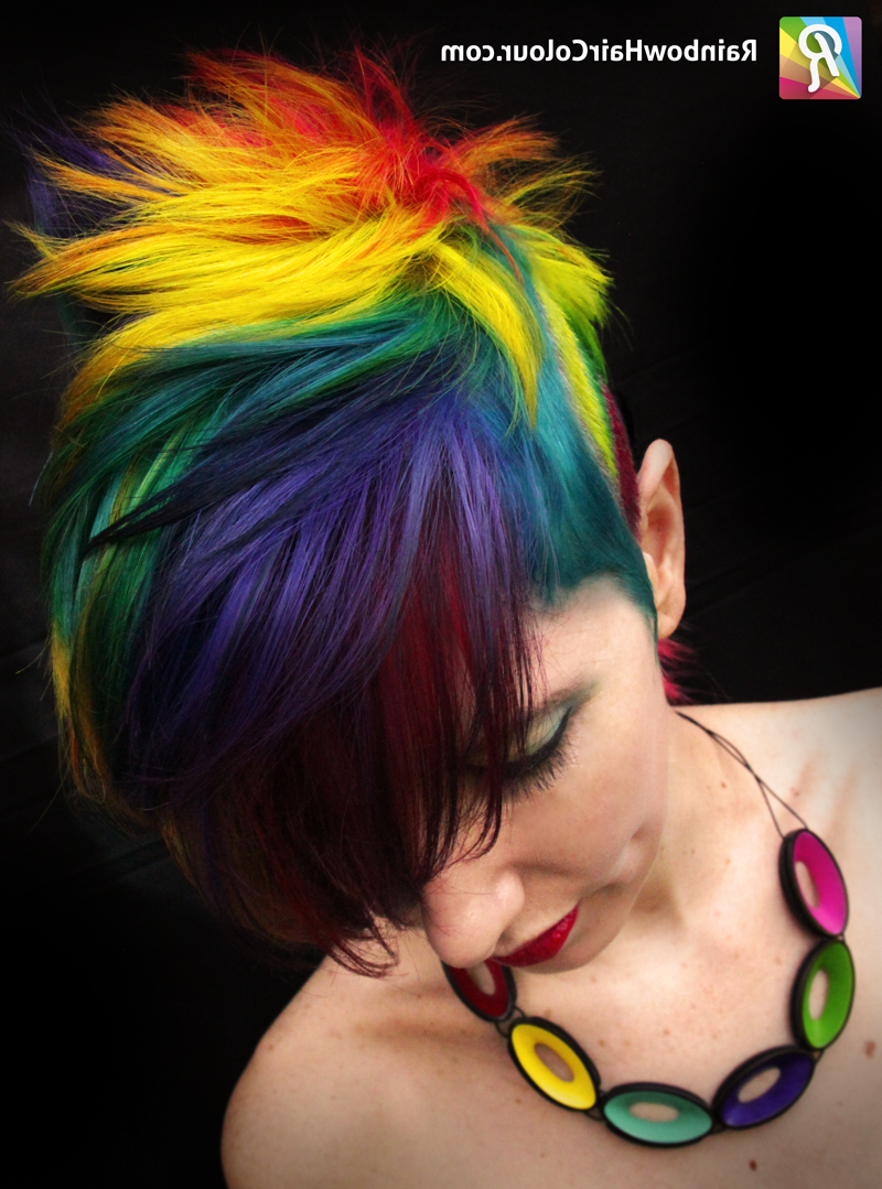 Favorite Rainbow Bright Mohawk Hairstyles With Regard To Raaainbow (View 8 of 20)