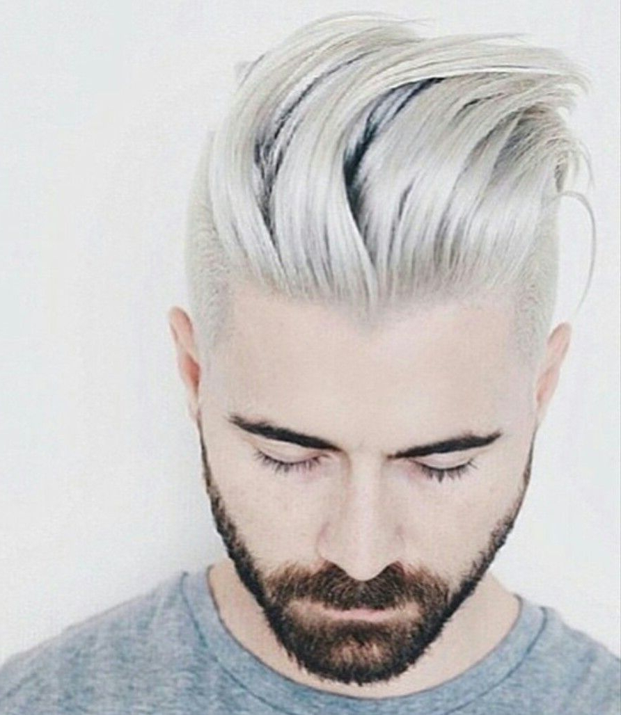 Favorite Silvery White Mohawk Hairstyles In Silver Hair Dark Beard Discoveredultraviolence (View 5 of 20)