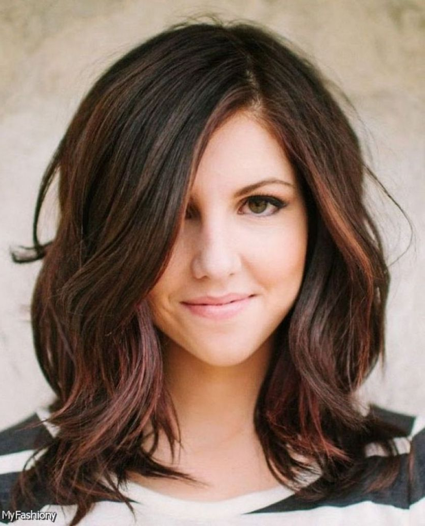 Find Out Full Gallery Of Perfect Swoop Bangs Long Hair Intended For Favorite Medium Hairstyles With Swoop Bangs (View 6 of 20)