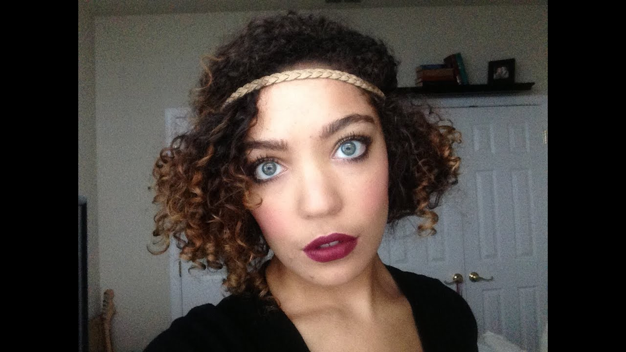 Flapper Inspired Hairstyle On Naturally Curly Hair (View 17 of 20)