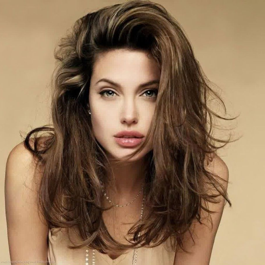 Funky And Carefree With Messy Haircuts For Women : Wildness Angelina For Popular Angelina Jolie Medium Hairstyles (View 2 of 20)