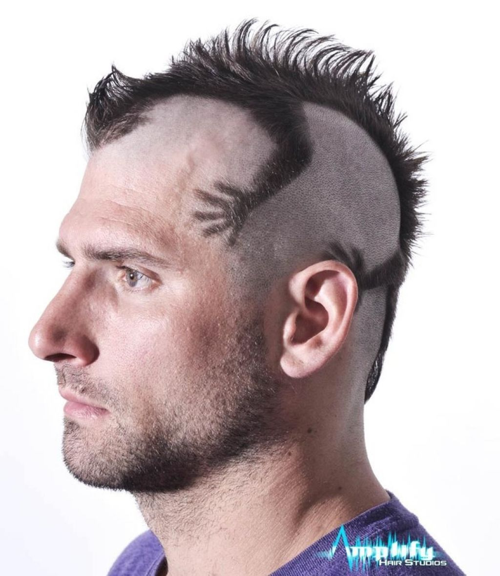 Funky Mens Mohawk Haircut Style – Men Hairstyle Trend (View 5 of 20)