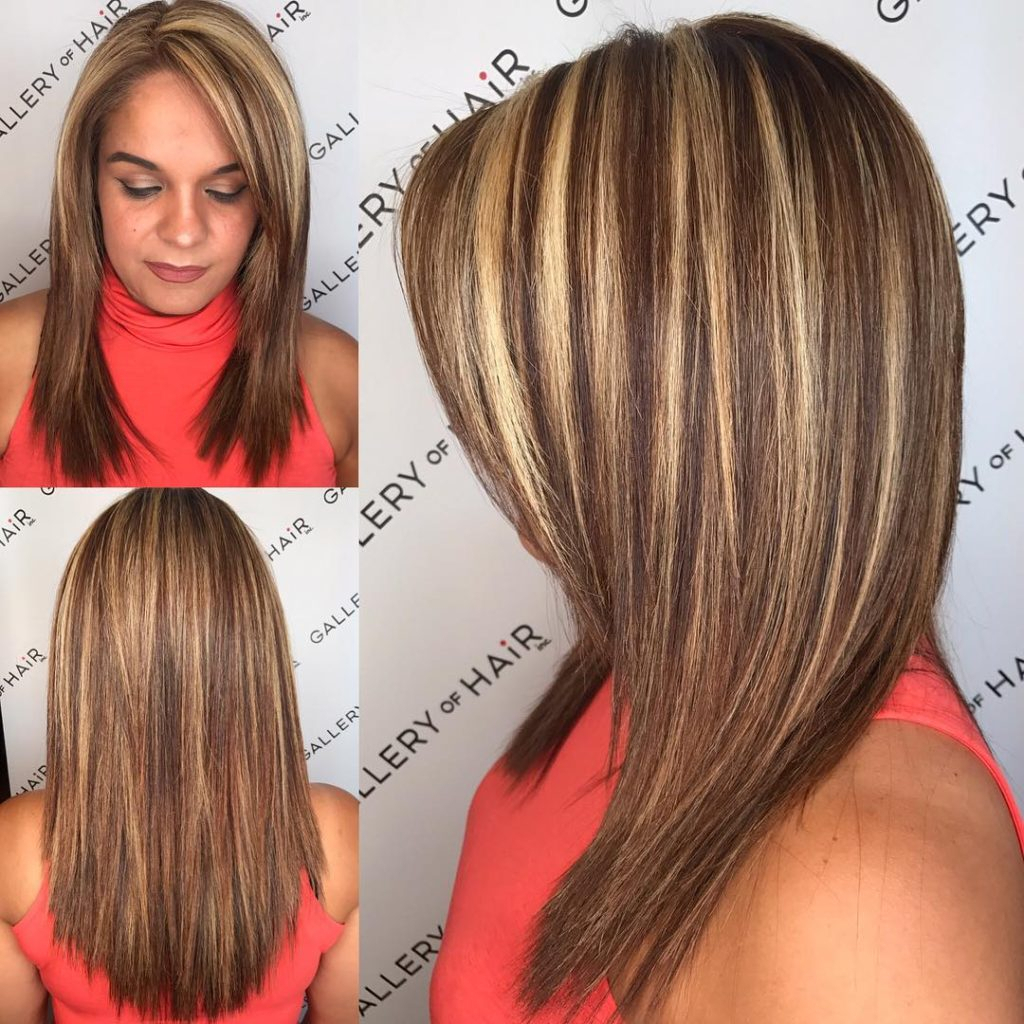 2019 Popular Medium Haircuts With Red And Blonde Highlights
