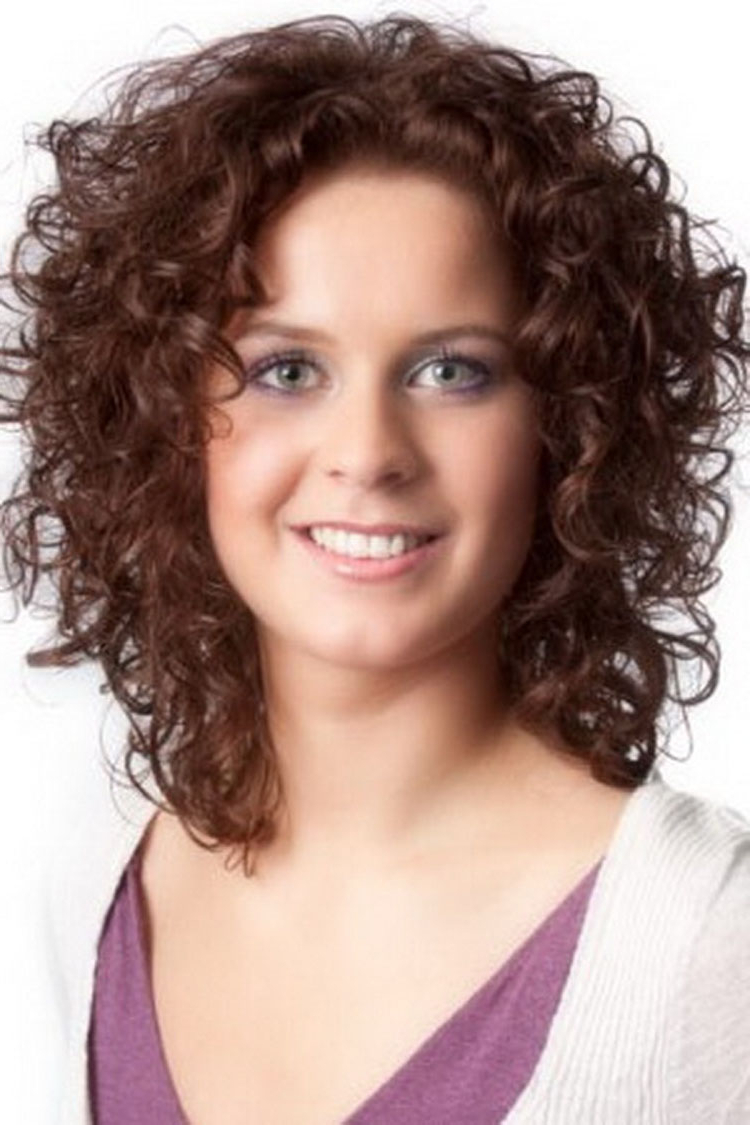 Hair And Hairstyles Inside Latest Medium Haircuts For Curly Hair And Round Face (View 8 of 20)