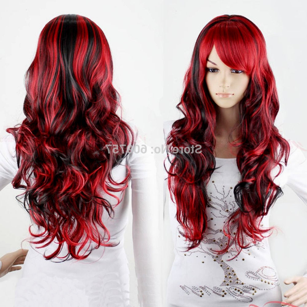 Hair Color : Red Hairstyles For Shoulder Length Hair Short Round Inside Most Current Red And Black Medium Hairstyles (View 12 of 20)