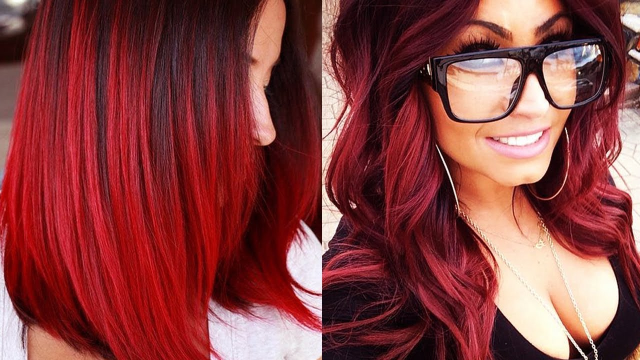 Hair Color : Red Hairstyles Hair Looks Color Ideas Long With Bangs In Most Up To Date Red And Black Medium Hairstyles (View 14 of 20)