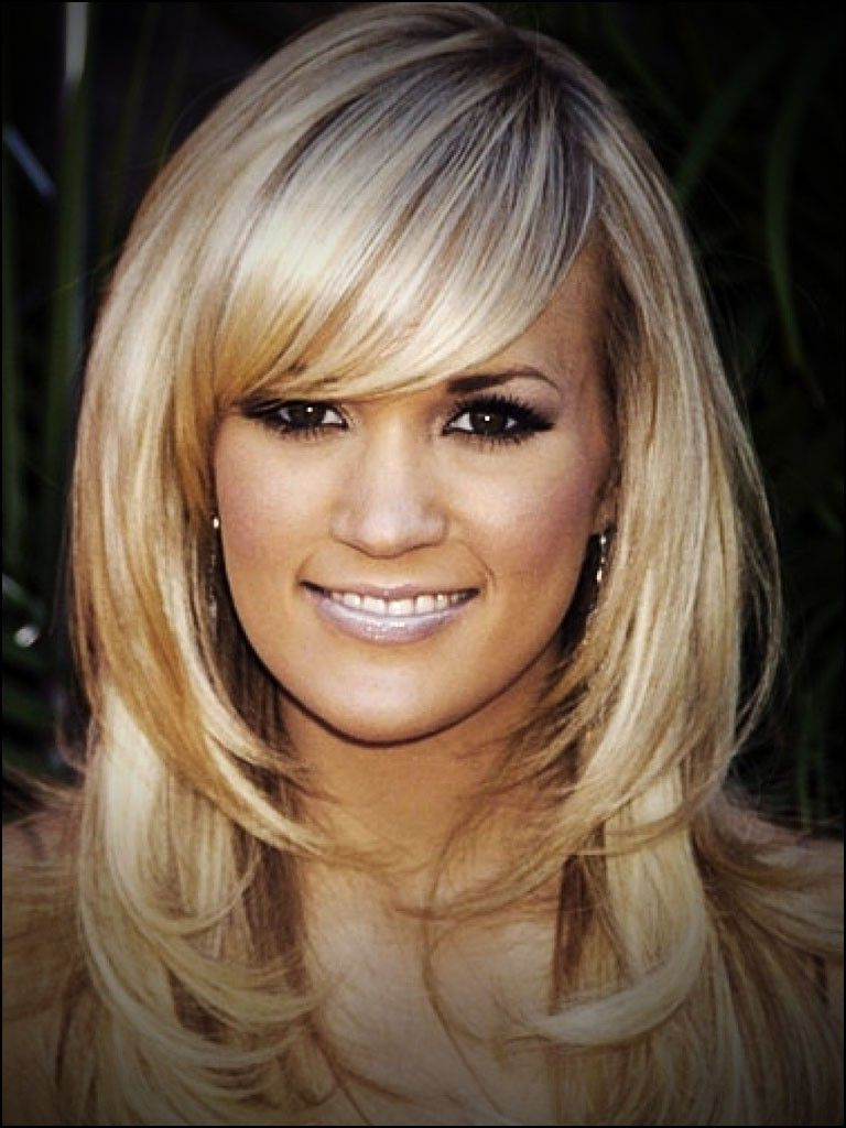 2020 Popular Layered Medium Hairstyles With Side Bangs