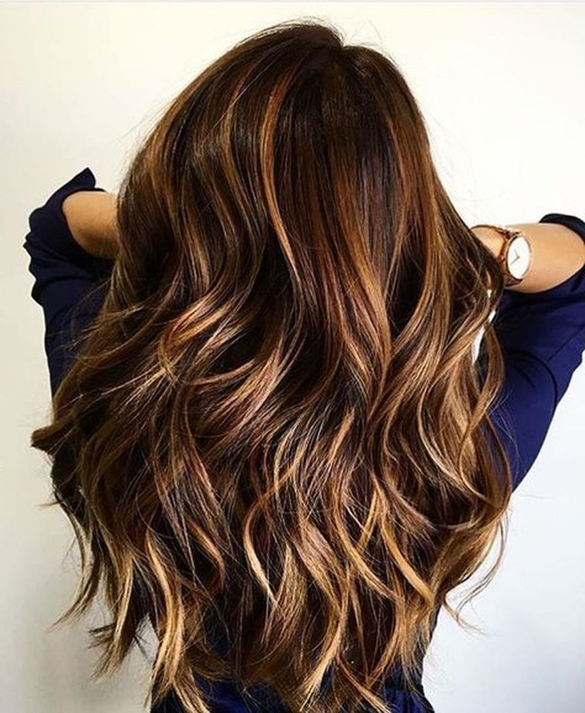 Hair Color : Stunning Fall Hairstyle Colors Ideas For Brunettes New Regarding Well Known Medium Hairstyles And Colors (View 10 of 20)
