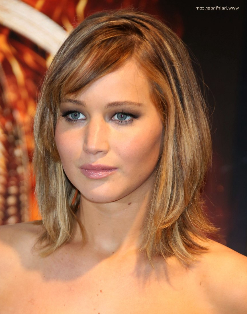 Featured Photo of Jennifer Lawrence Medium Haircuts