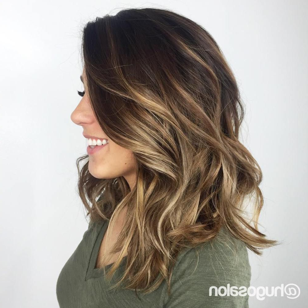 Hair Colors Within Best And Newest Medium Hairstyles With Balayage (View 9 of 20)
