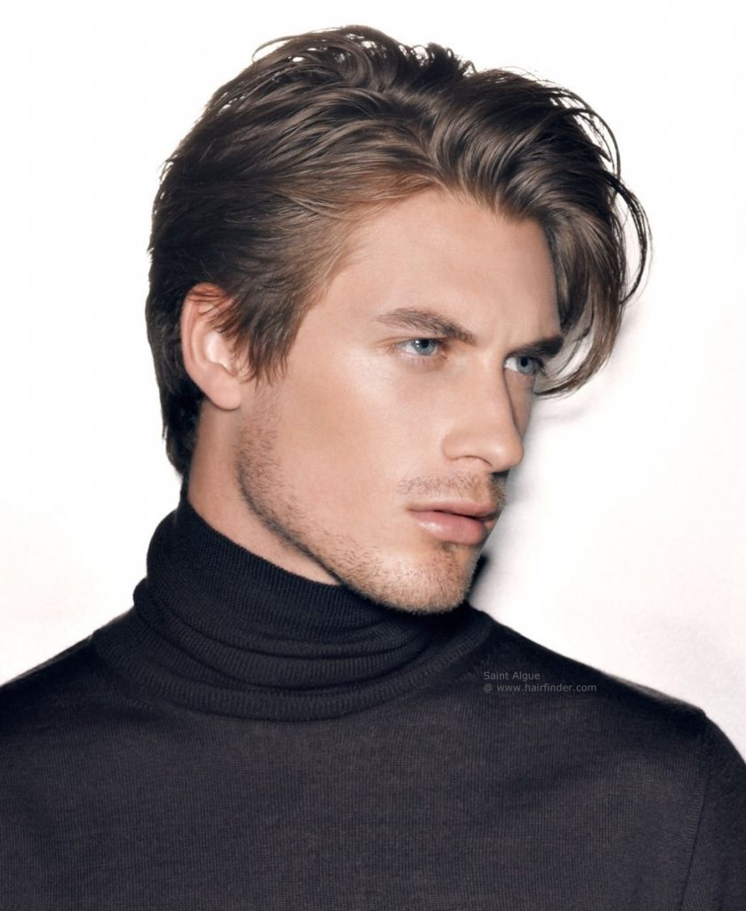 Hair Cuts : Alluring Haircuts For Men With Beards Wavy Hair Curly With Regard To Favorite Classic Medium Hairstyles (View 5 of 20)
