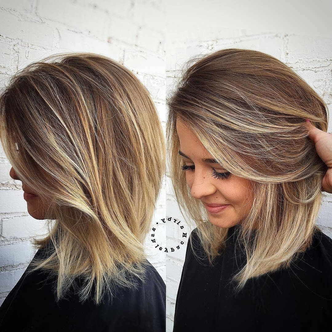 Medium Haircuts 2019 For Round Faces Layered