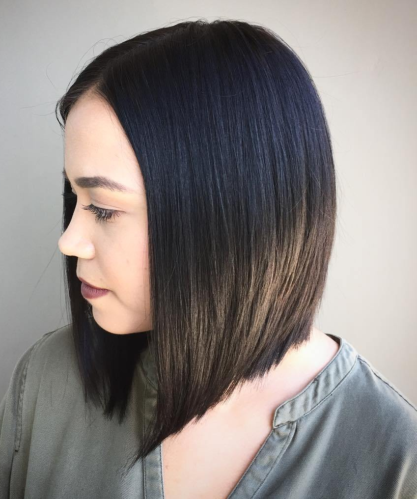 Hair Cuts : Gorgeous Medium Length Bob Hairstyles For Fine Black Pertaining To Latest Medium Haircuts For Black Hair (View 9 of 20)