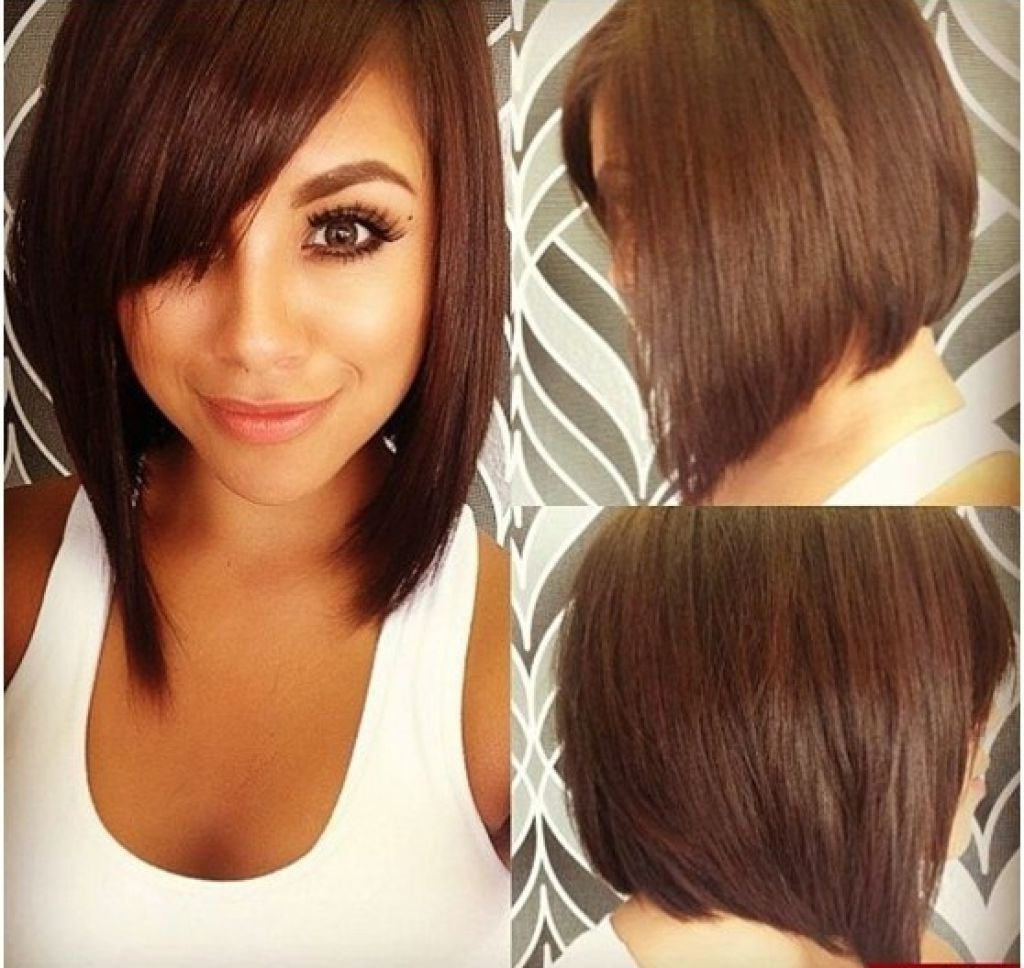 Hair Cuts : Haircuts For Round Faces Medium With Bangs Best And Pertaining To Trendy Medium Haircuts Bobs For Round Faces (View 11 of 20)