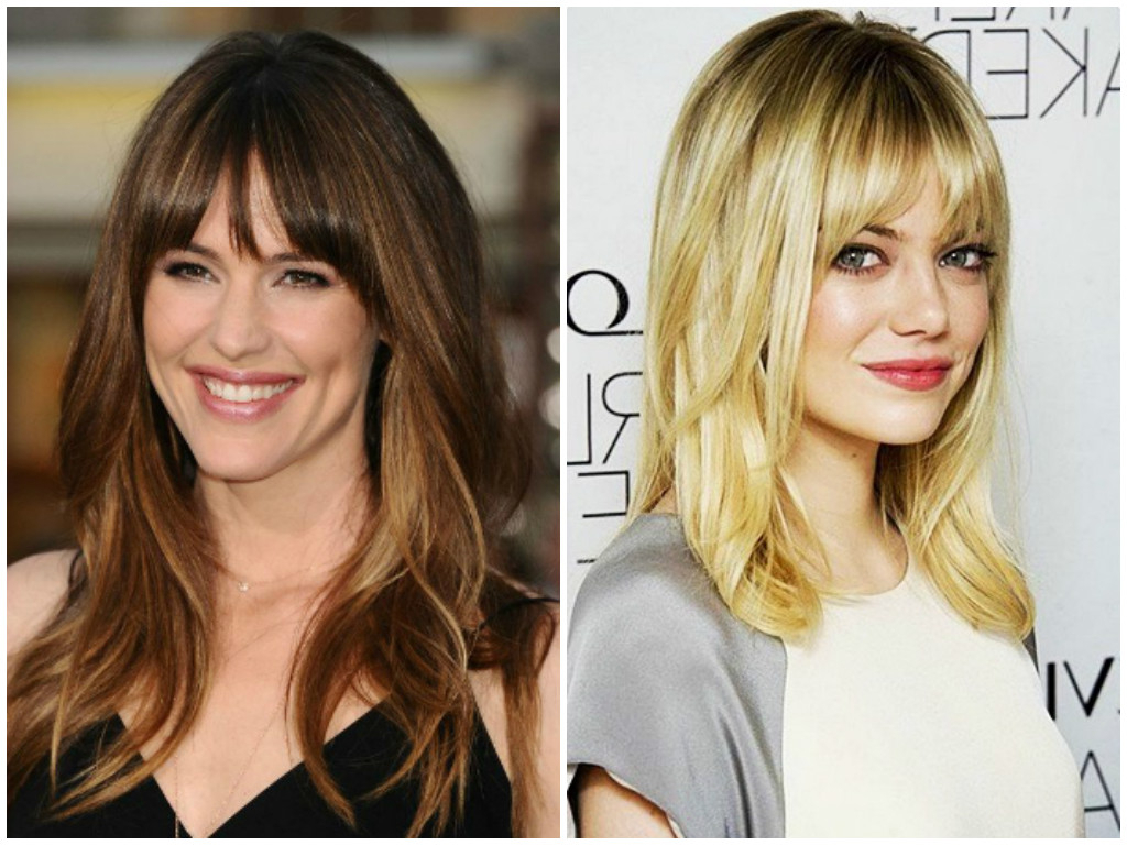 Hair Cuts : Long Layered Hairstyles With Fringe Framing Layers In Latest Medium Haircuts With Longer Bangs (View 8 of 20)