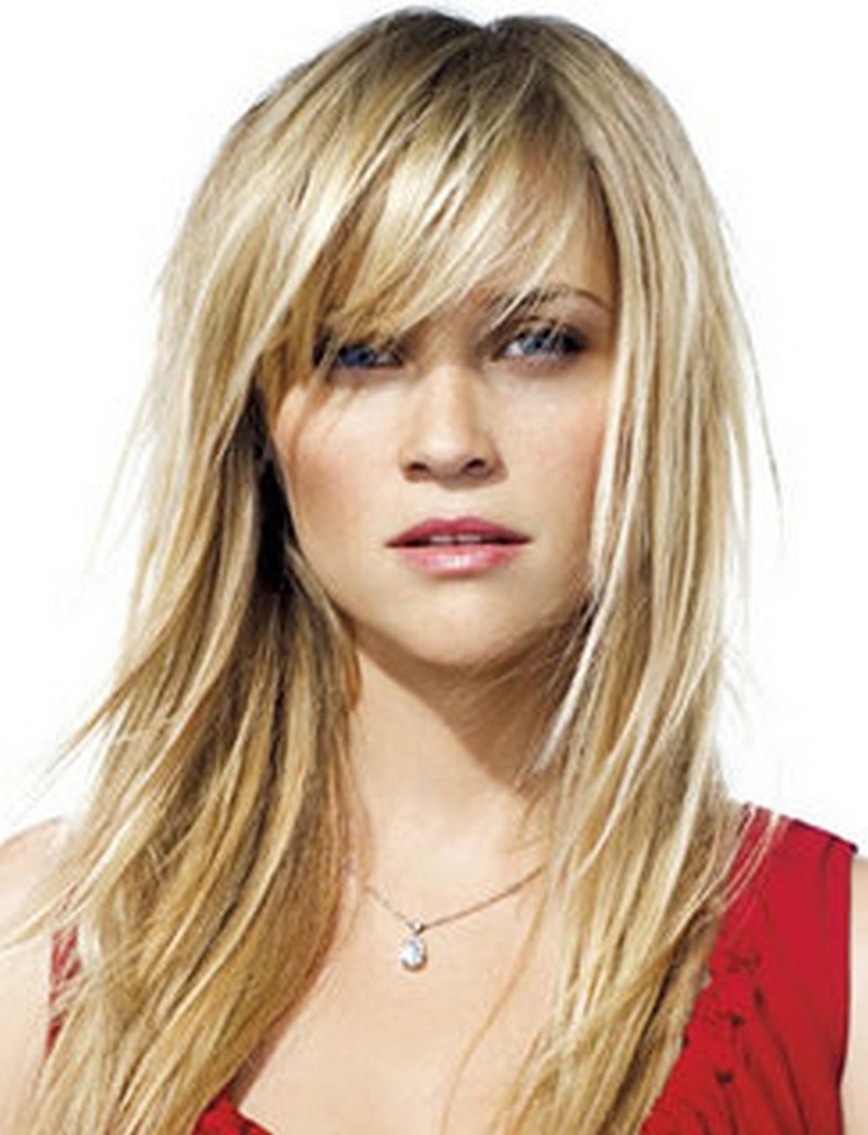 Hair Cuts : Outstanding Medium Length Layered Hairstyles With Back With Well Known Medium Hairstyles Bangs (View 7 of 20)