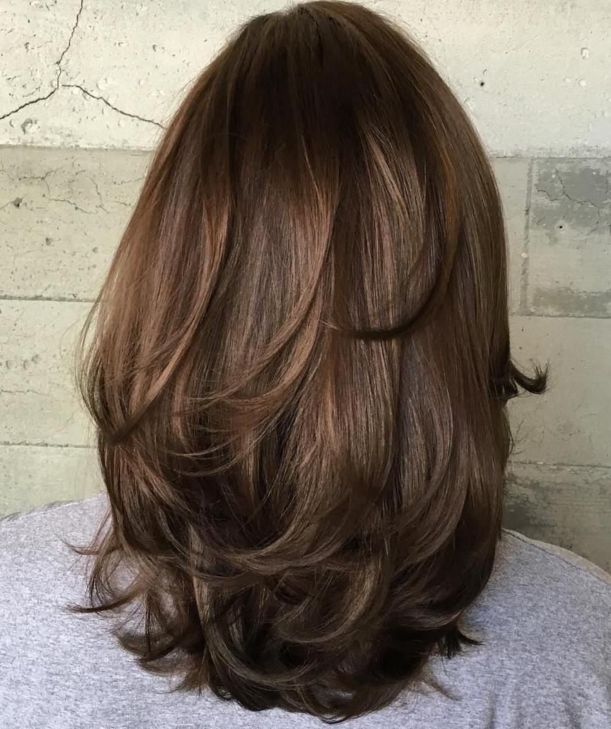 Hair Cuts Within Newest Medium Haircuts For Thick Hair With Bangs (View 14 of 20)