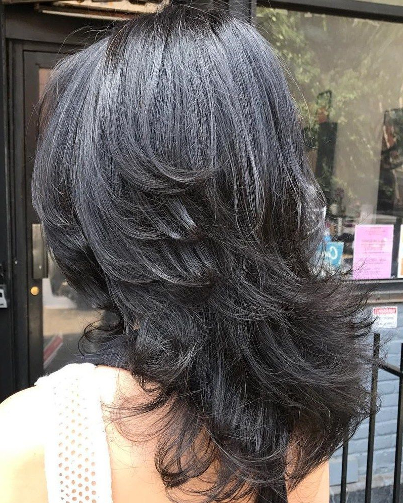 2020 Latest Medium Feathered Haircuts for Thick Hair