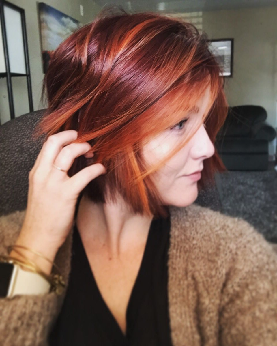 Hair & Makeup With Regard To 2018 Red Hair Medium Haircuts (View 7 of 20)