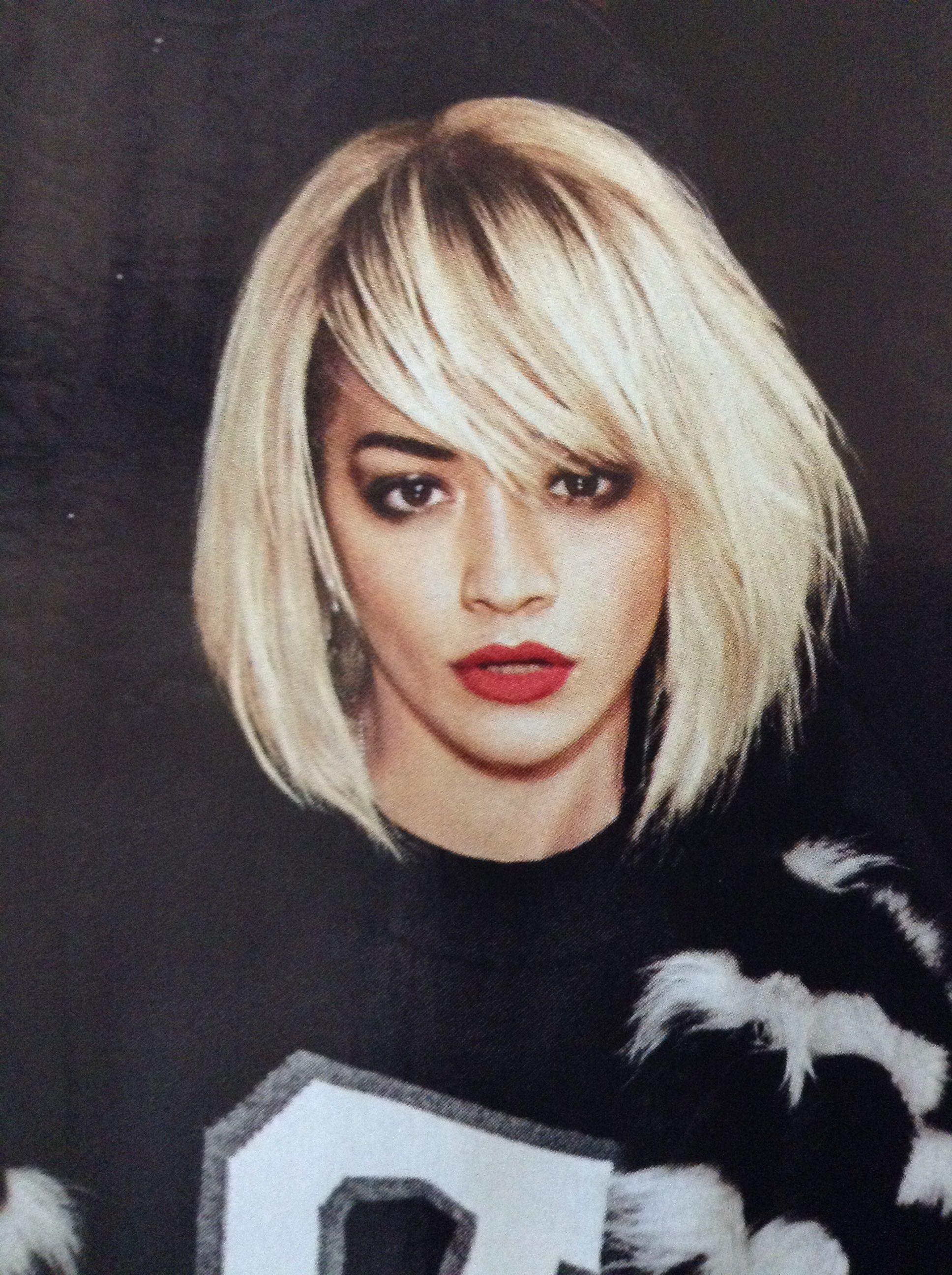Featured Photo of Rita Ora Medium Hairstyles