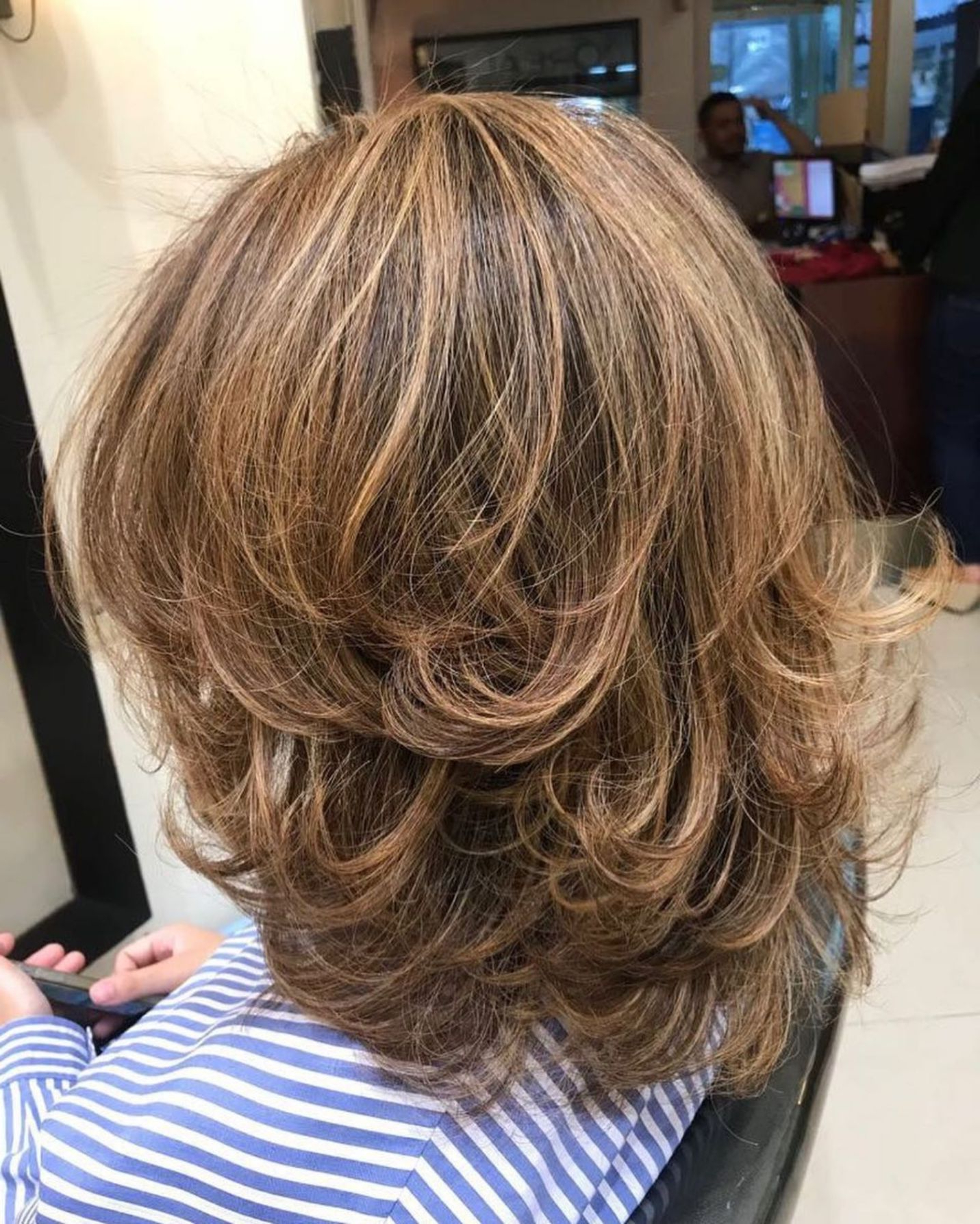 Hair Pertaining To Latest Medium Haircuts With Fiery Ombre Layers (View 10 of 20)