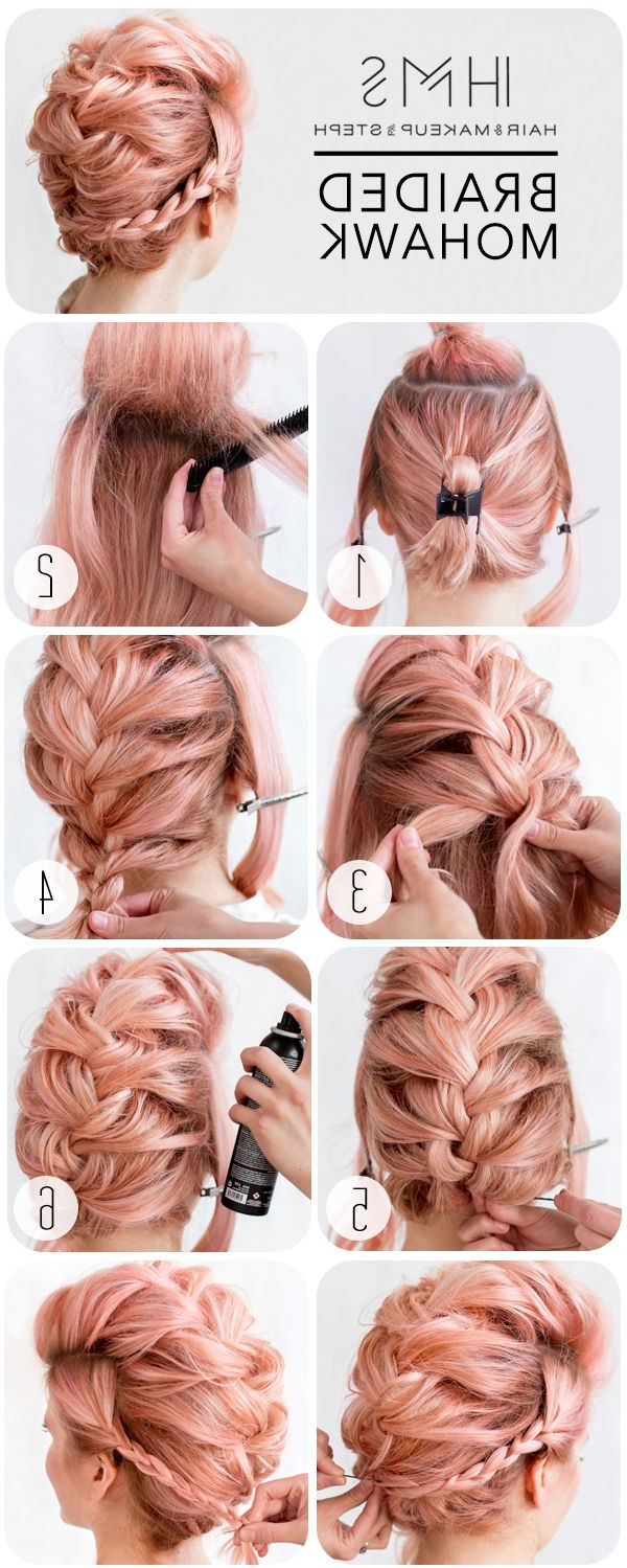 Hair Styles, Hair Throughout Well Known Messy Braided Faux Hawk Hairstyles (View 15 of 20)