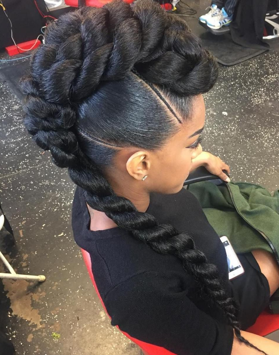 Hair Styles Pertaining To Well Known Black Mohawk Hairstyles (View 11 of 20)