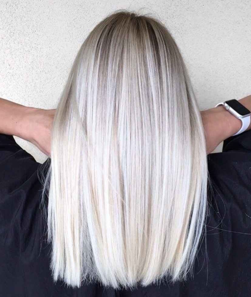 Hair Throughout Latest Platinum Blonde Medium Hairstyles (View 2 of 20)