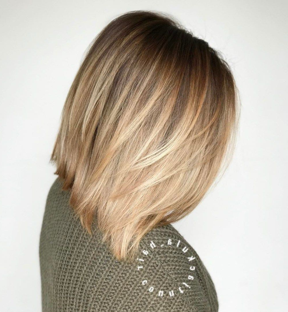 Hair Within Well Known Point Cut Bob Hairstyles With Caramel Balayage (View 14 of 20)
