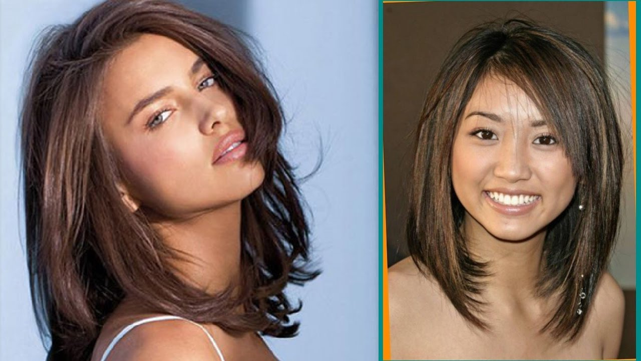 Haircut For Round Face Medium Length Hair – Youtube In Recent Medium Haircuts For Round Face (View 11 of 20)