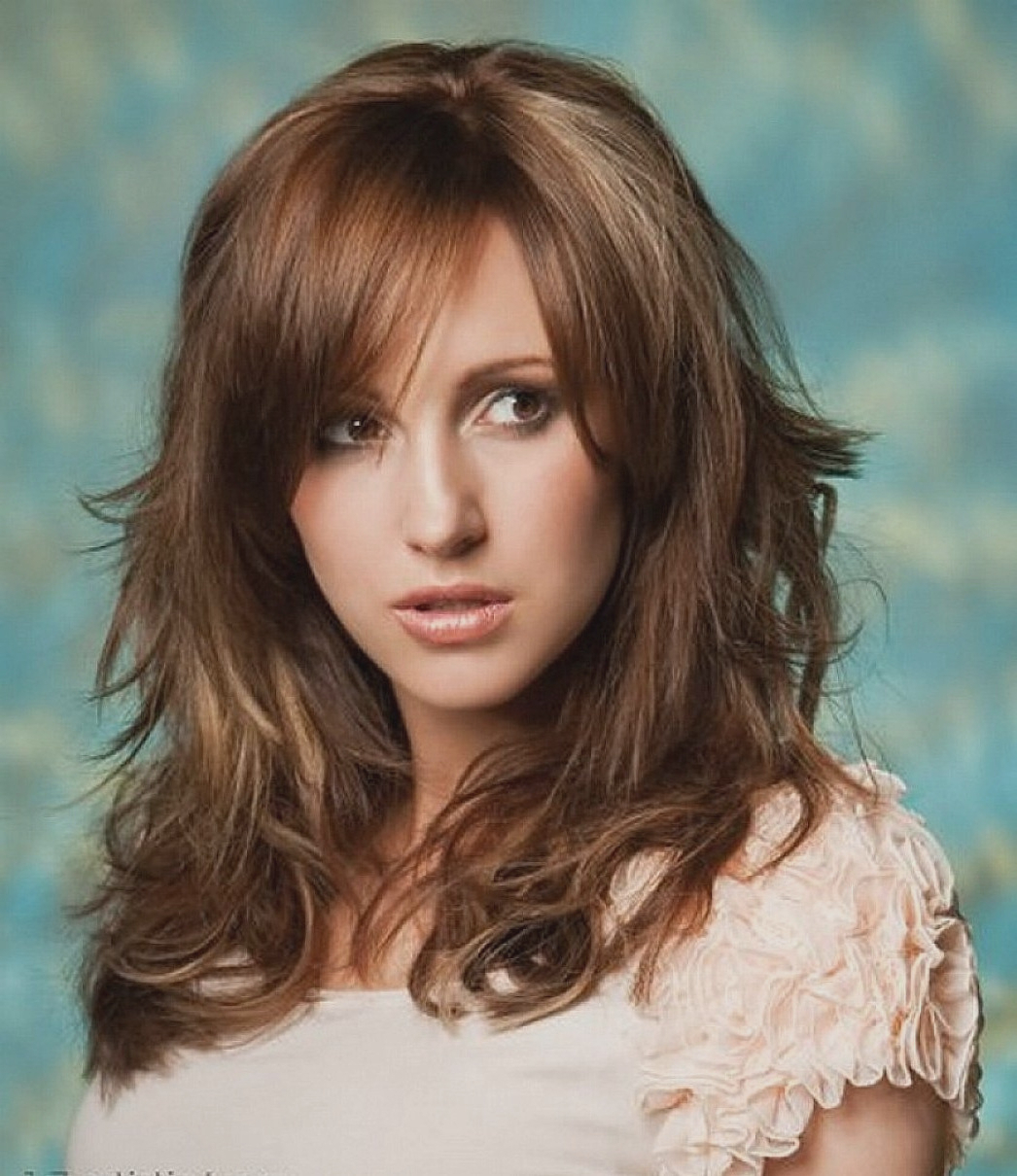 Haircut : Top Medium Length Haircuts Thick Wavy Hair Images Home With Recent Medium Haircuts For Thick Wavy Hair (Gallery 18 of 20)