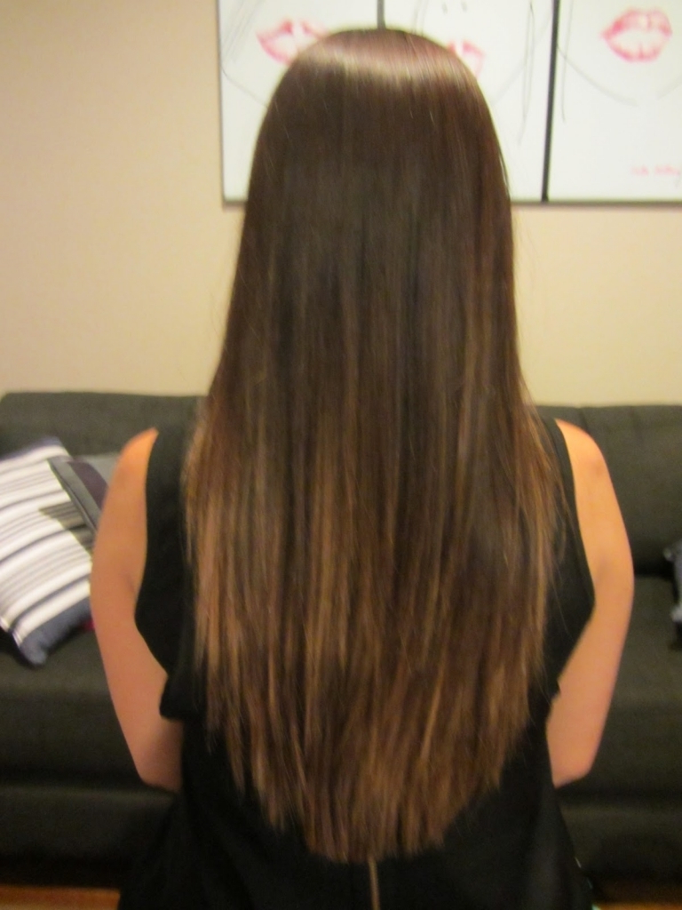 Haircuts For Long Hair Back View Long Hair Layers Haircut Back View Intended For Famous V Cut Layers Hairstyles For Thick Hair (View 9 of 20)