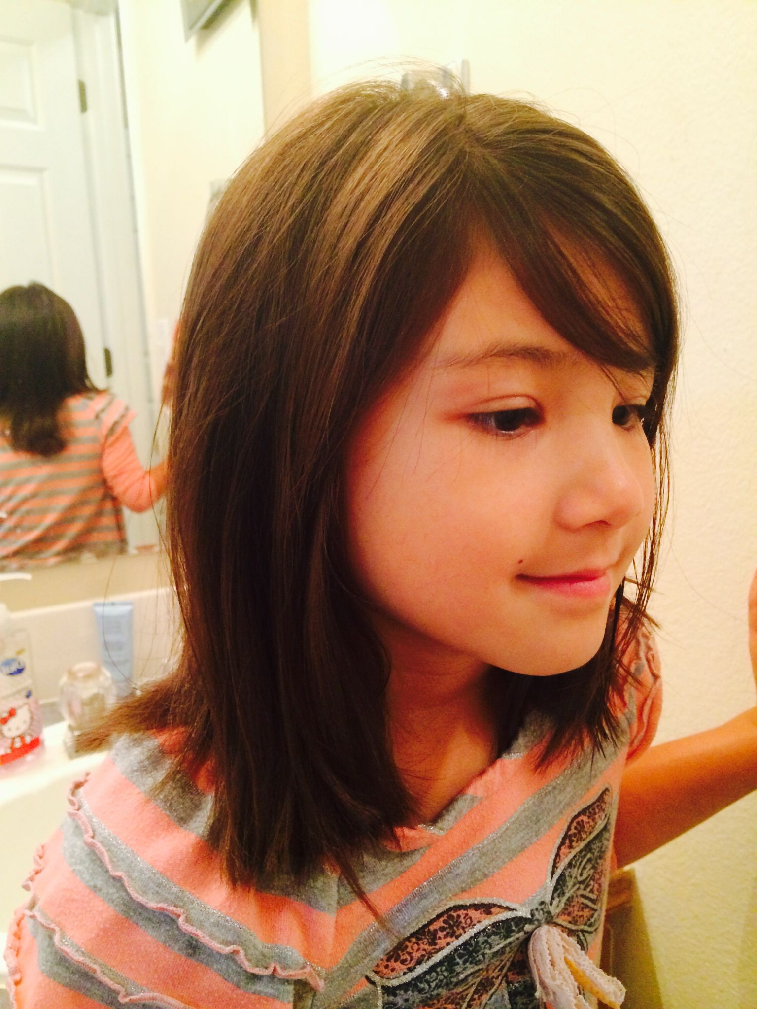 Hairstyles For Little Girls Intended For Well Known Kids Medium Haircuts With Bangs (View 8 of 20)