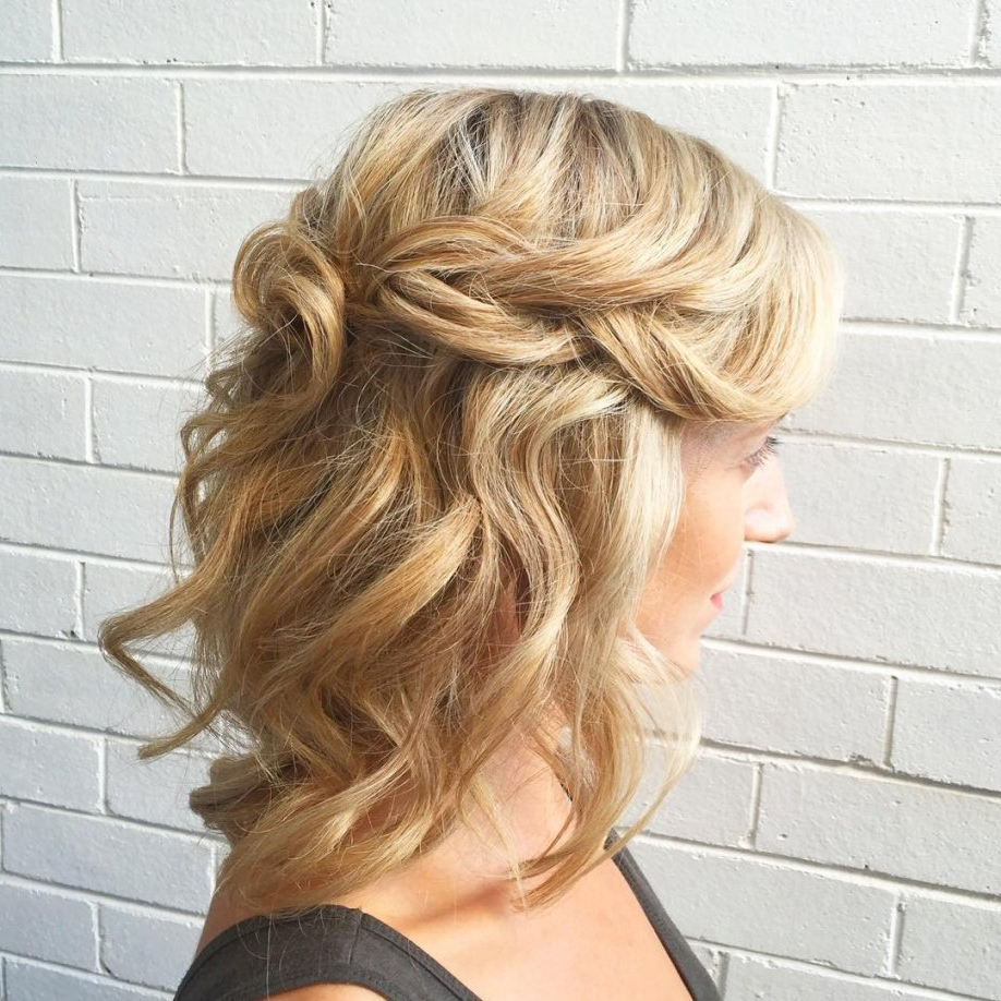 Half Up Half Down Wedding Hairstyles For Medium Length Hair For 2017 Down Medium Hairstyles (View 9 of 20)