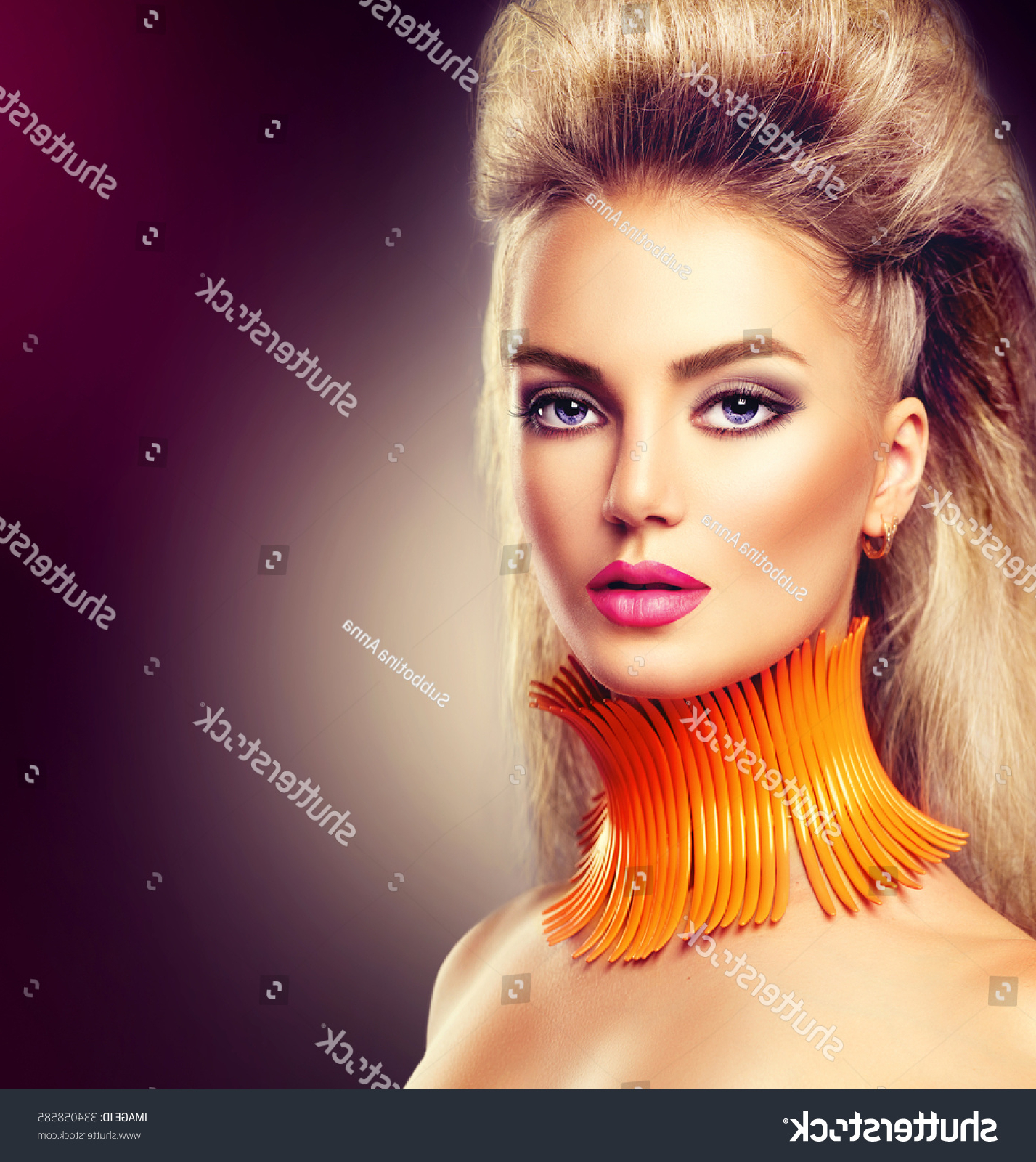 High Fashion Model Girl Mohawk Hairstyle Stock Photo (Edit Now For 2018 Glamorous Mohawk Updo Hairstyles (View 9 of 20)