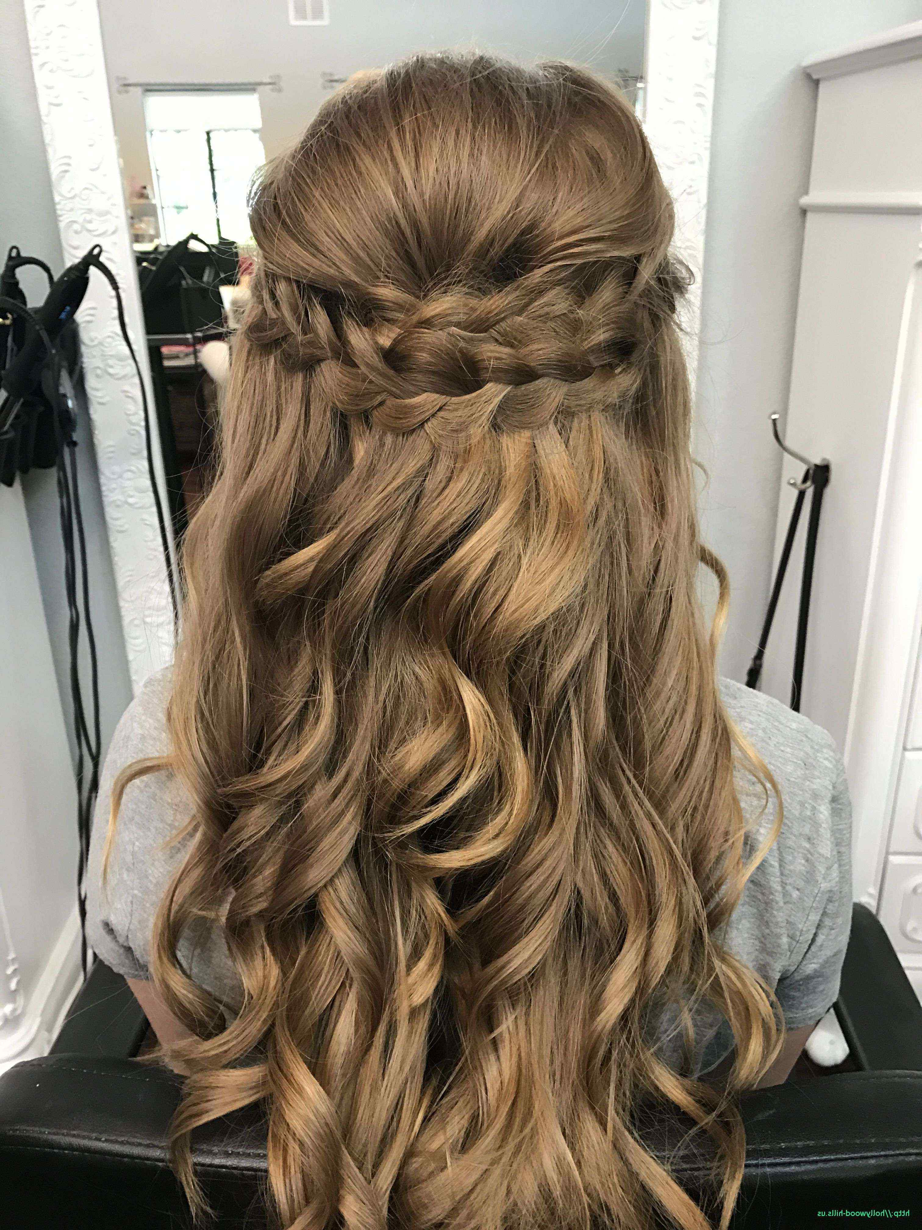 Homecoming Hairstyles For Medium Length Half Up Curls Awesome Home In Trendy Homecoming Medium Hairstyles (View 10 of 20)