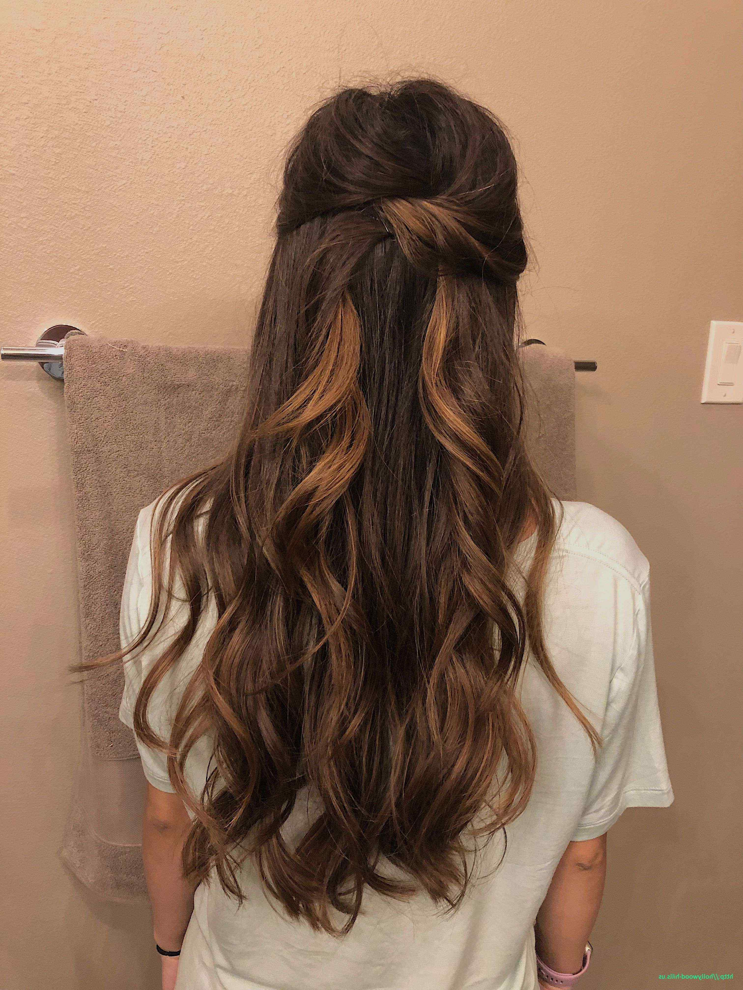Homecoming Hairstyles For Medium Length Half Up Curls Awesome Inside Best And Newest Half Up Half Down Medium Hairstyles (View 8 of 20)