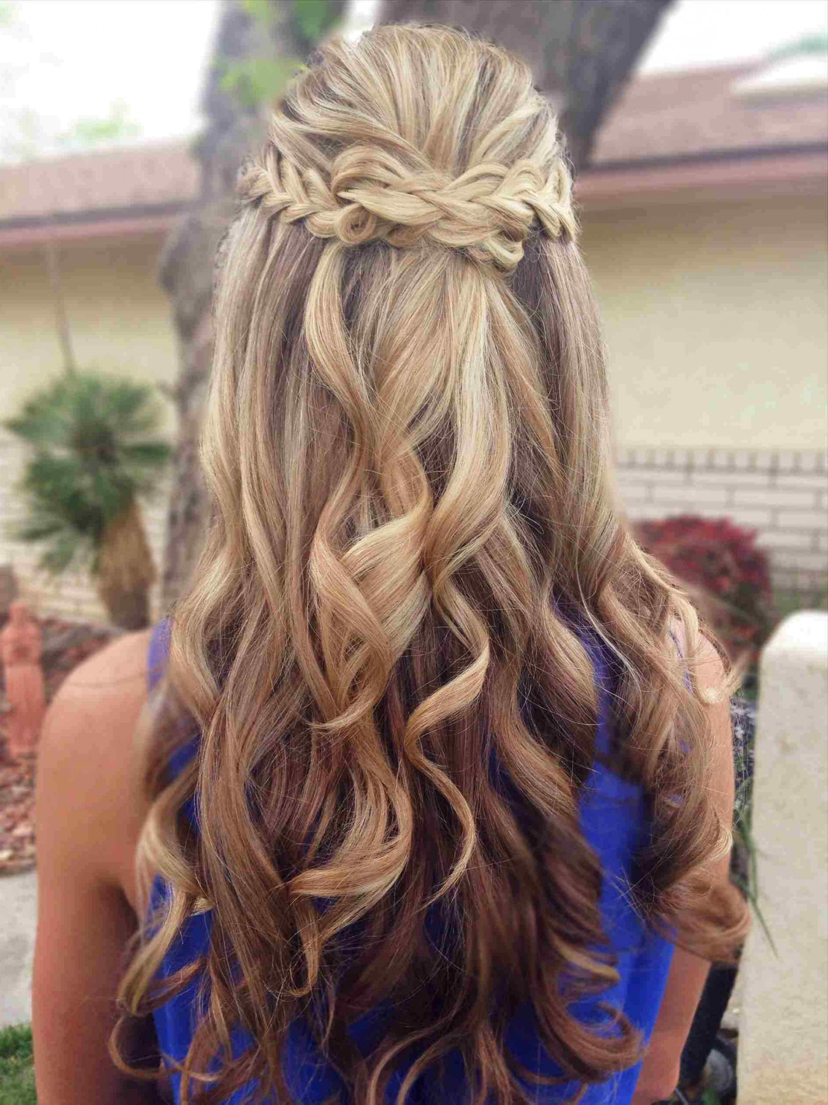 Homecoming Hairstyles For Medium Length Half Up Curls Beautiful Home For Most Up To Date Homecoming Medium Hairstyles (View 11 of 20)