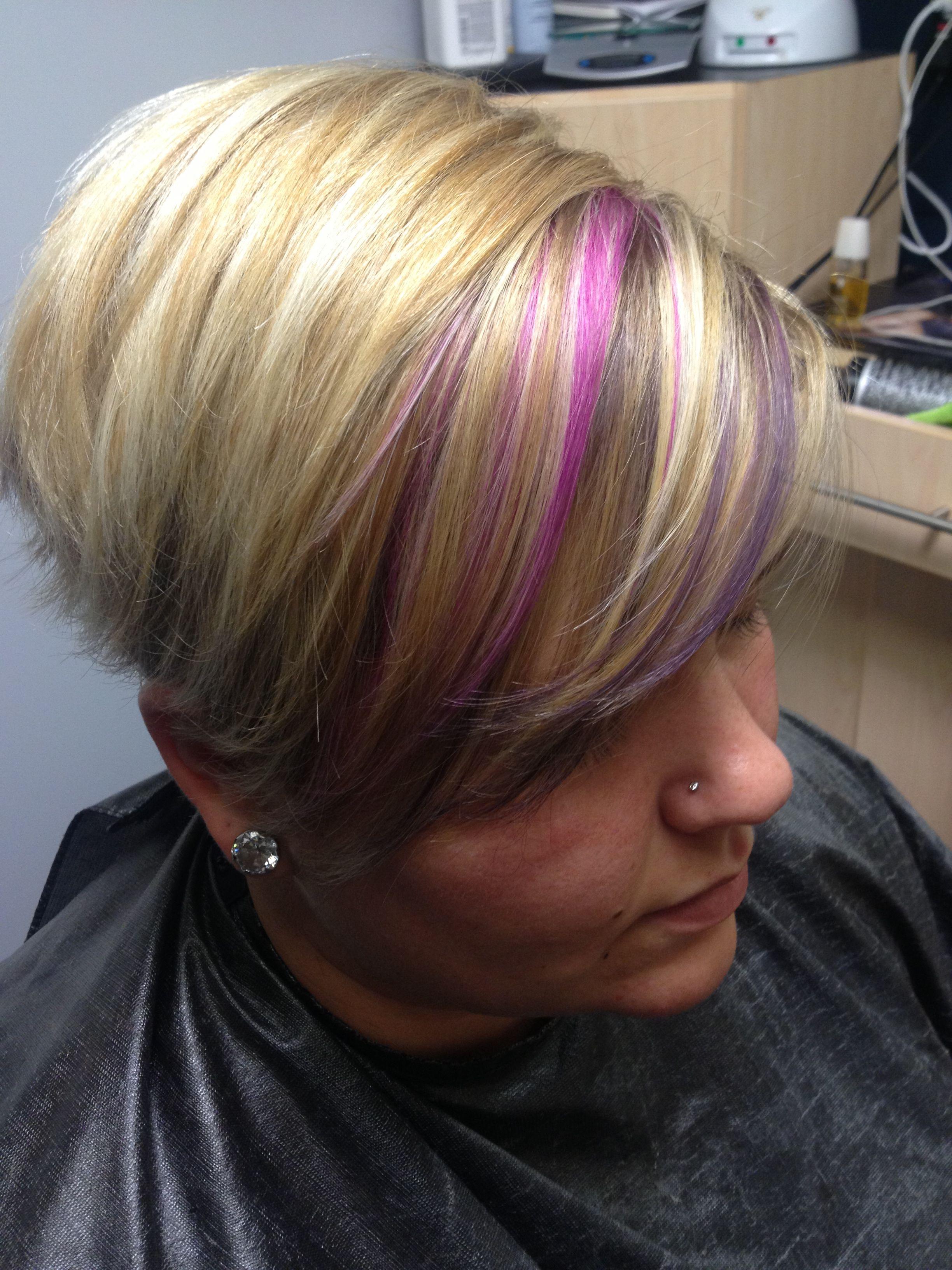 Photo Gallery Of Spiky Mohawk Hairstyles With Pink Peekaboo Streaks