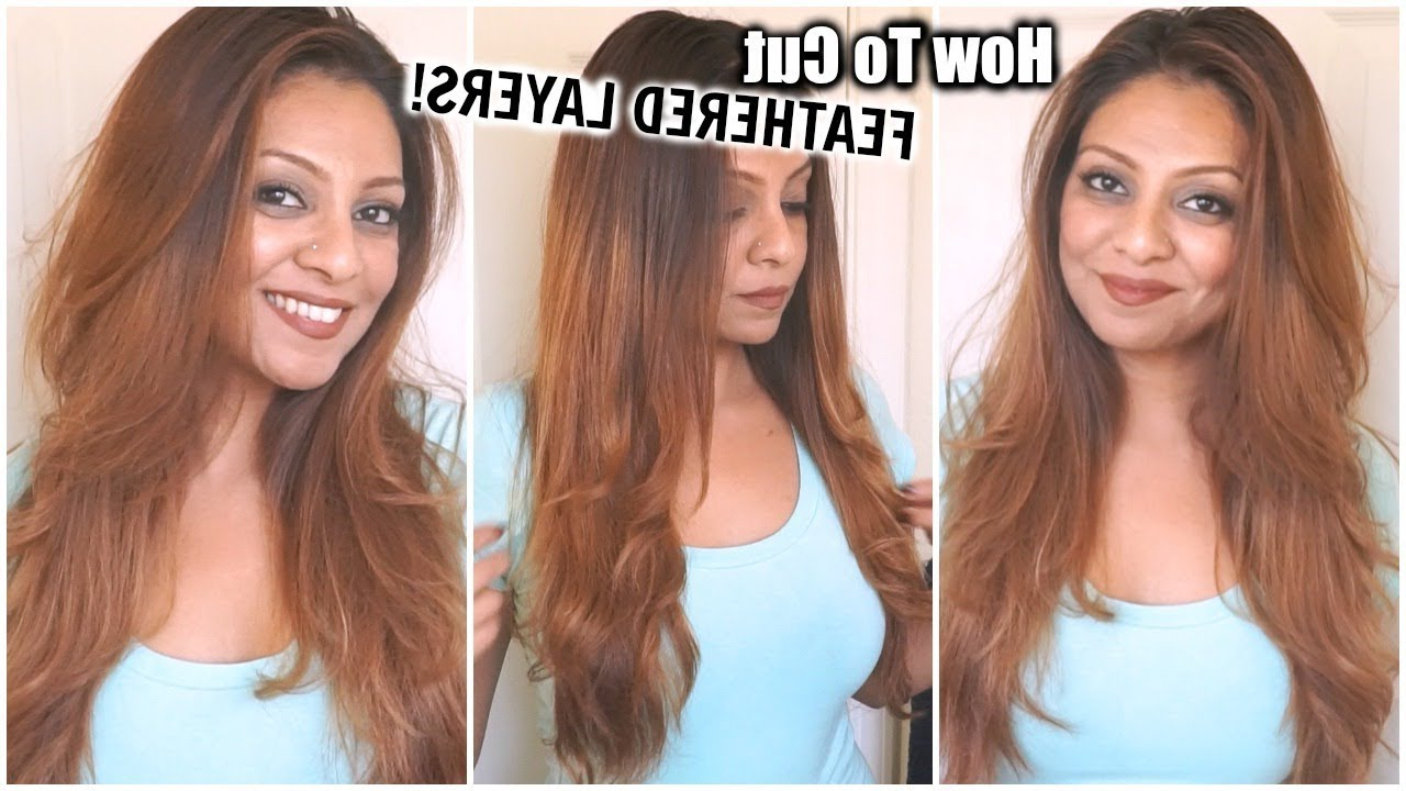 How To Cut Your Hair At Home In Feathered Layers│diy Layers Haircut Inside Current Longer Hairstyles With Feathered Bottom (View 6 of 20)