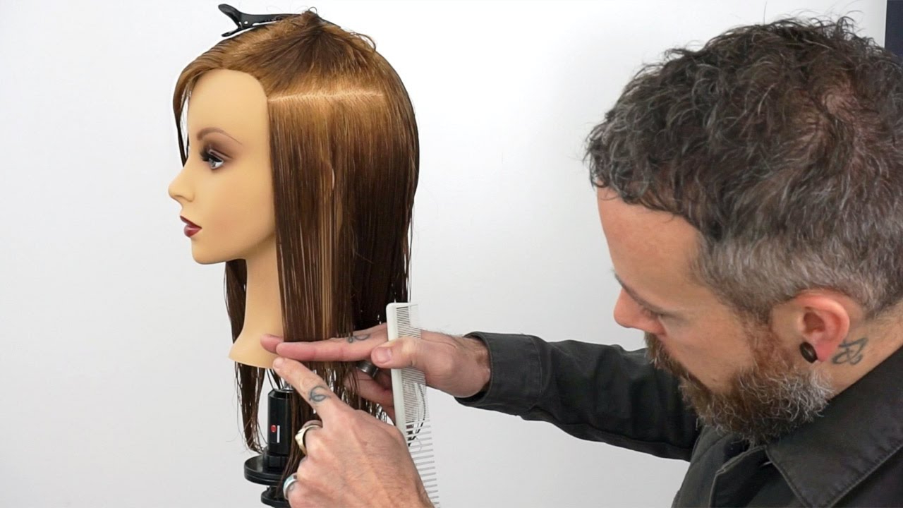 How To Hold Sections To Create A Consistent One Length Haircut – Youtube Intended For Current One Length Medium Haircuts (View 4 of 20)