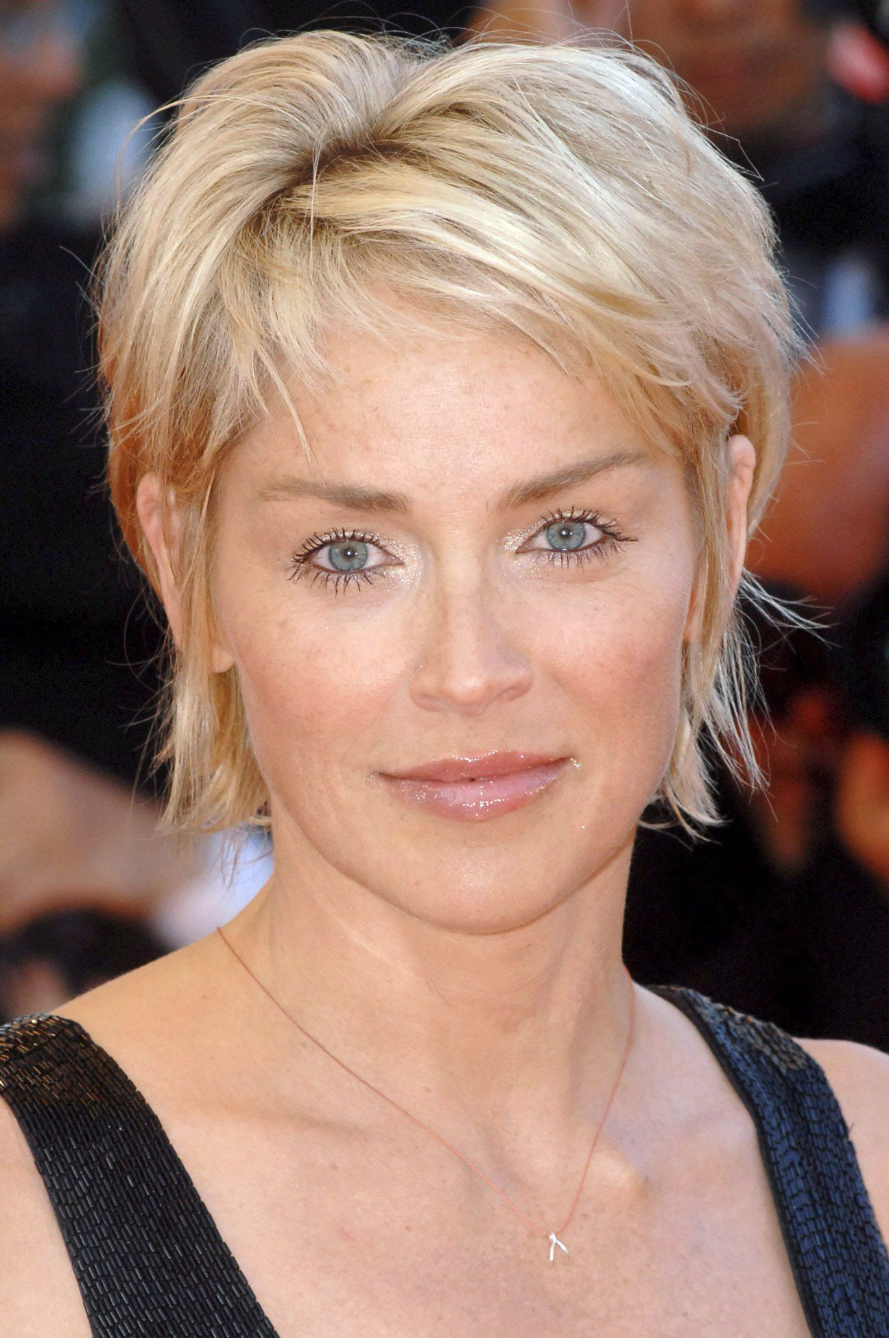Featured Photo of Sharon Stone Medium Haircuts